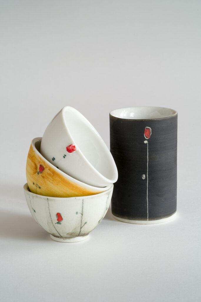 Eierbecher und Vase