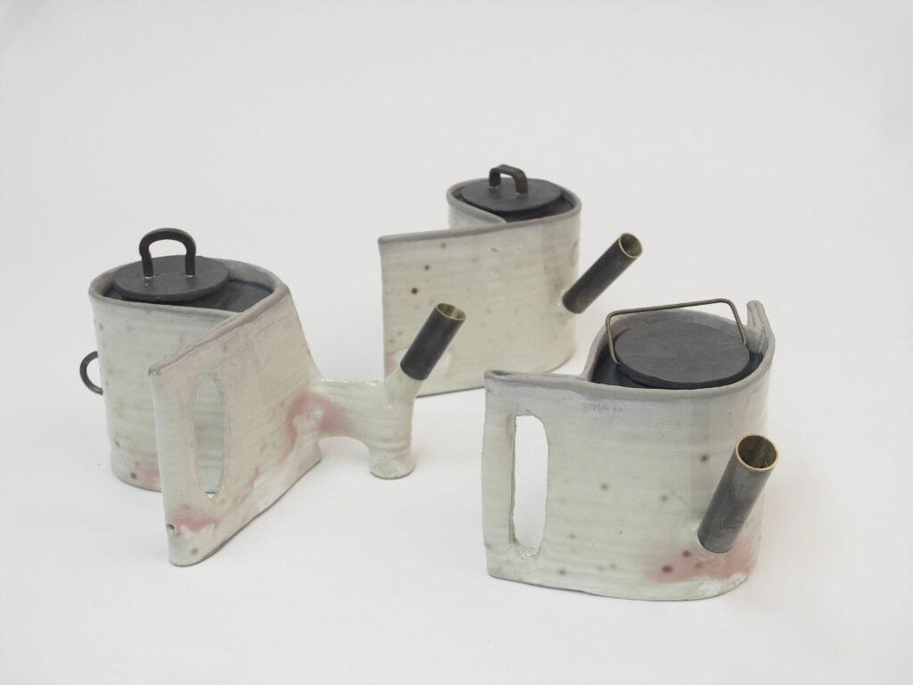 3 Teekannen à 600ml, je 11x20cm, à 250€