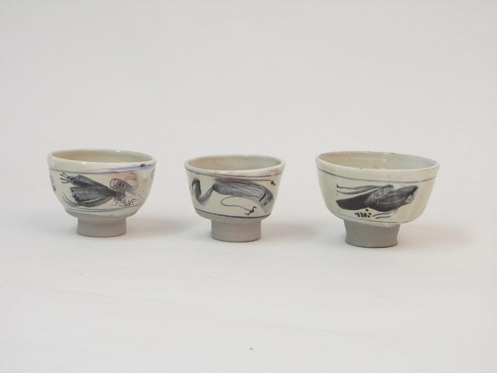 Teeschälchen H 6-7 cm, ø 11-9 cm, à 50 €