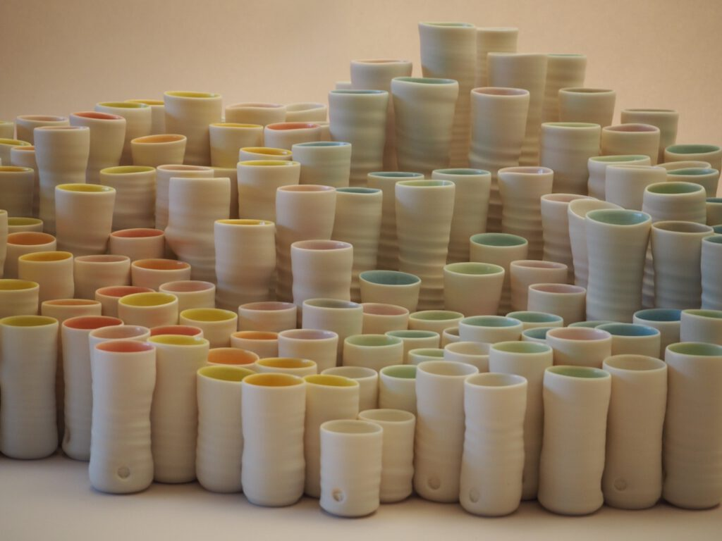 rosenvasen aus Porzellan