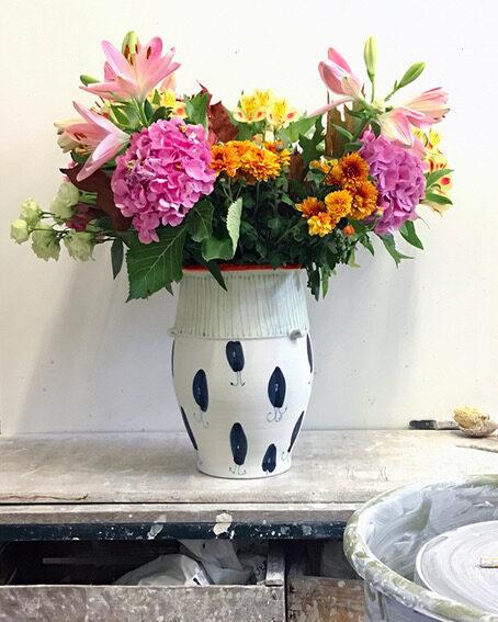 Vase, Porzellan, Höhe 45 cm