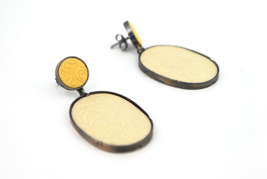 Ohrringe, Edition I, 925ger Silber geschwärzt, um 110€