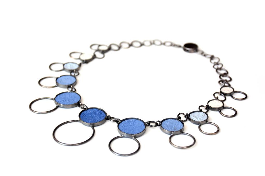 Kette Circle-Line, 925iger Silber geschwärzt, um 790€