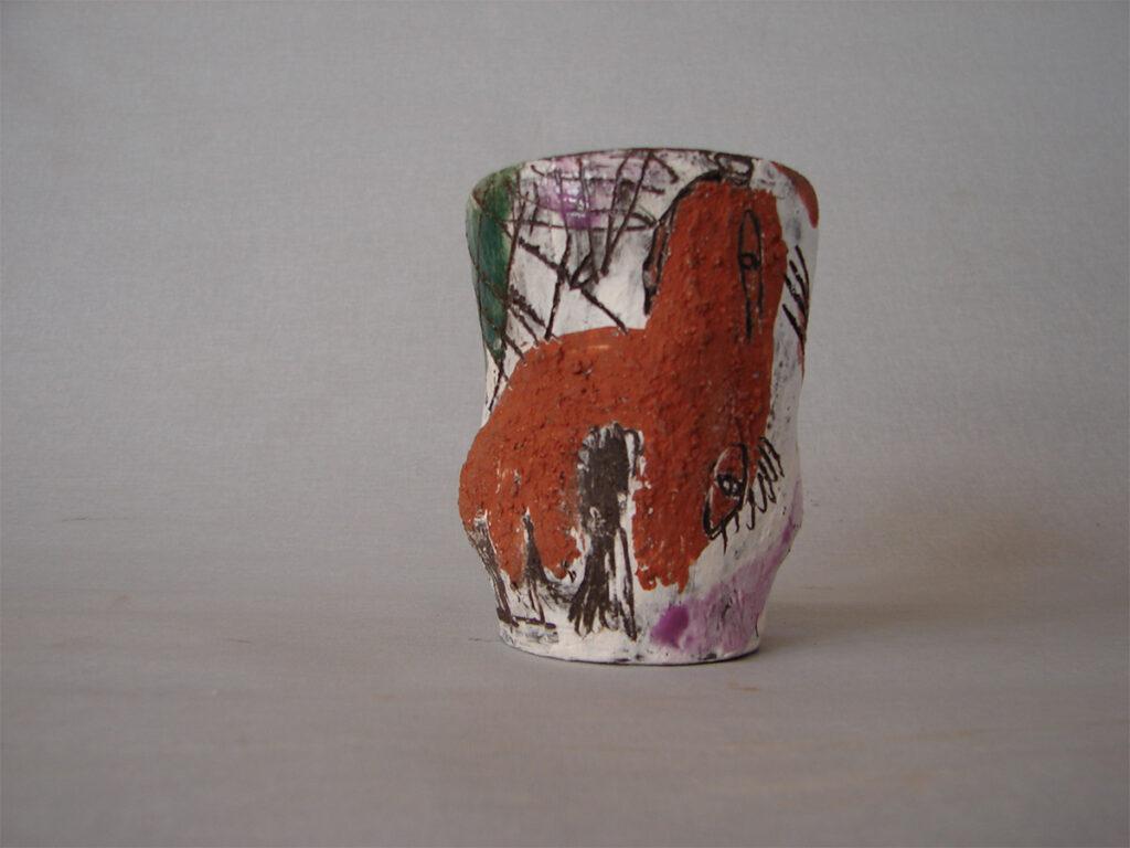 Vase RotWeiß